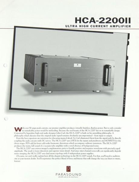 Parasound HCA-2200 II Prospekt / Katalog