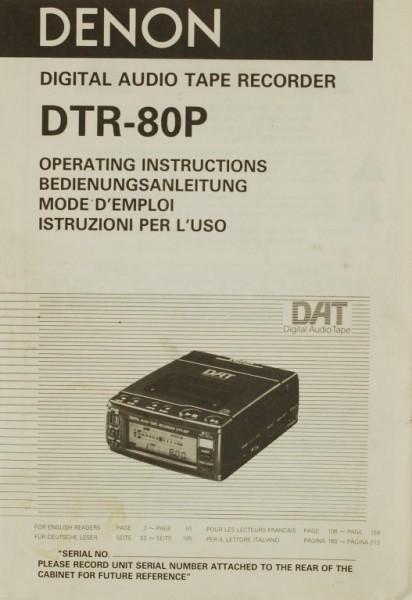 Denon DTR-80 P Bedienungsanleitung