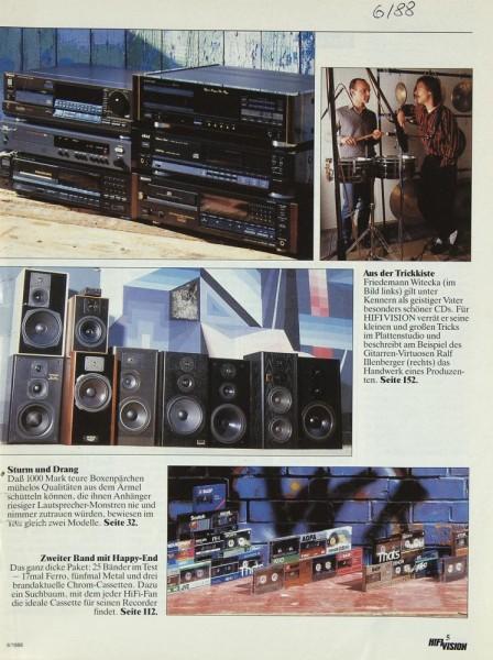 Hifi Vision 6/1988 Zeitschrift