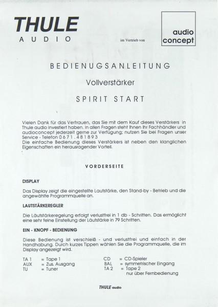 Thule Spirit Start Bedienungsanleitung