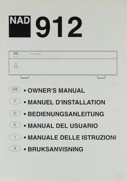 NAD 912 Bedienungsanleitung