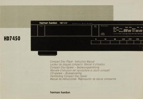 Harman / Kardon HD 7450 Bedienungsanleitung