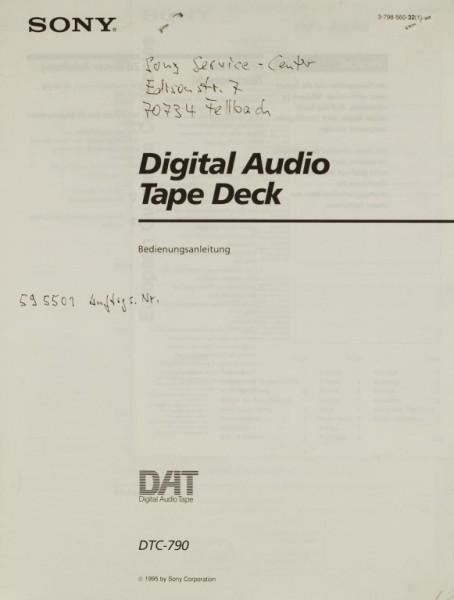 Sony DTC-790 Bedienungsanleitung