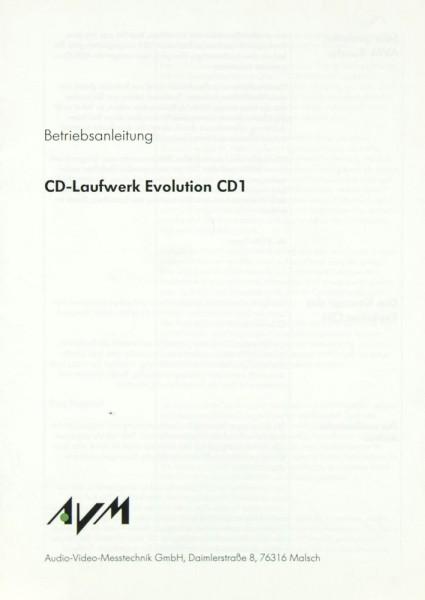 AVM Evolution CD 1 Bedienungsanleitung
