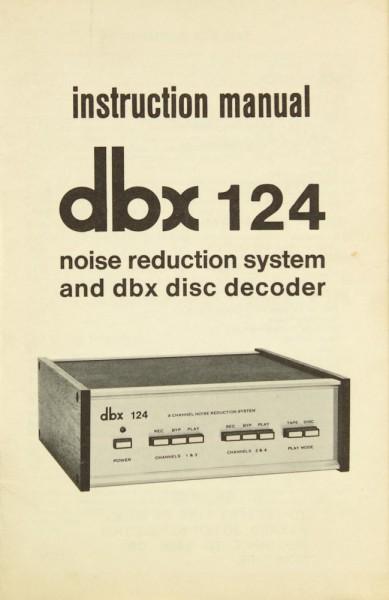 DBX 124 Bedienungsanleitung