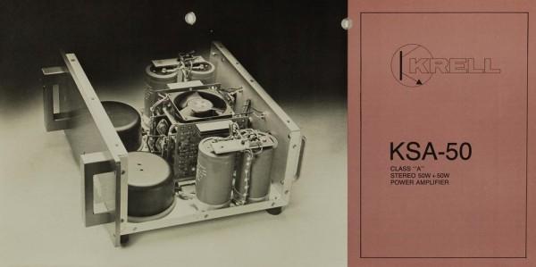 Krell KSA-50 Prospekt / Katalog