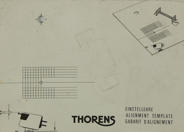 Thorens Alignment Template Justageschablone