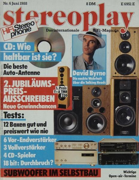 Stereoplay 6/1988 Zeitschrift