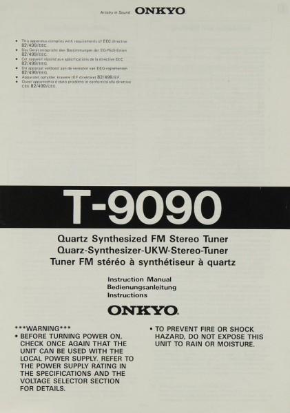 Onkyo T-9090 Bedienungsanleitung