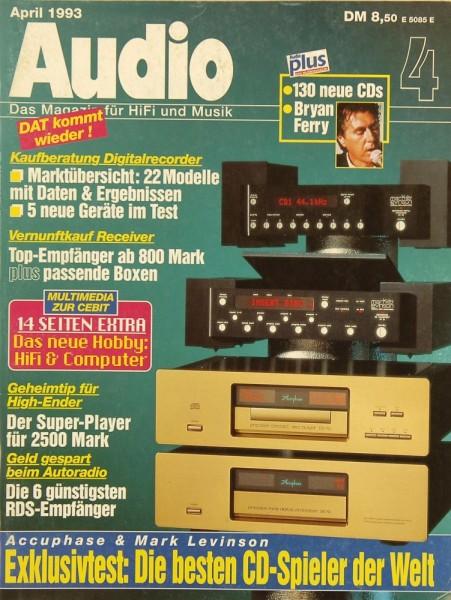 Audio 4/1993 Zeitschrift