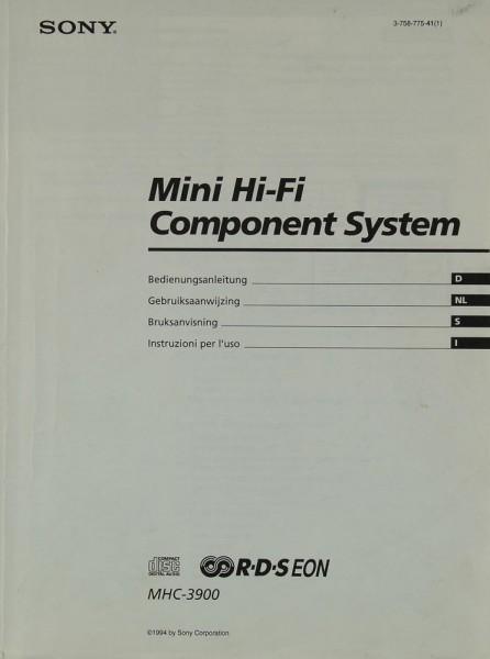 Sony MHC-3900 Bedienungsanleitung
