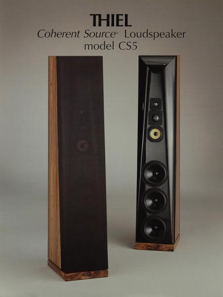 Thiel Model CS 5 Prospekt / Katalog