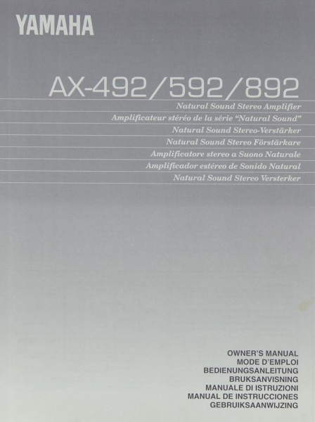 Yamaha AX-492 / 592 / 892 Bedienungsanleitung