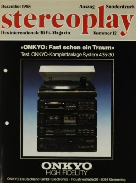 Onkyo Komplettanlage System 435-30 Testnachdruck
