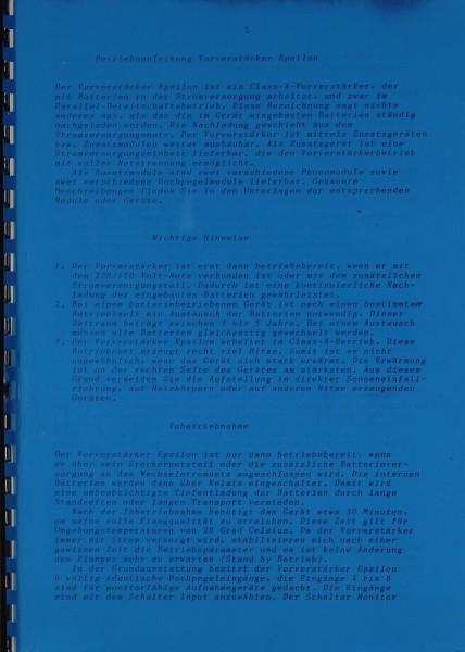 SAC-Mediatore Epsilon Bedienungsanleitung