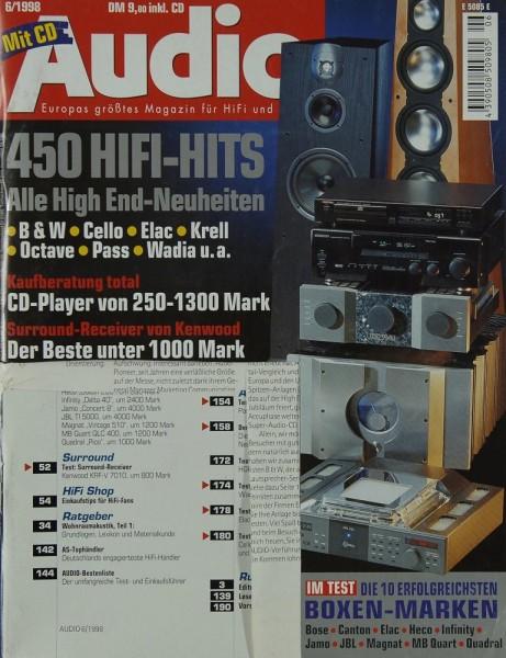 Audio 6/1998 Zeitschrift