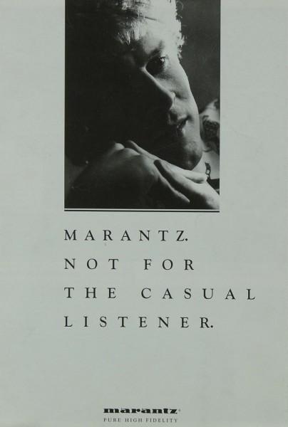 Marantz Not for the casual Listener Prospekt / Katalog
