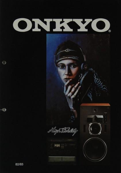 Onkyo High Fidelity 82/83 Prospekt / Katalog