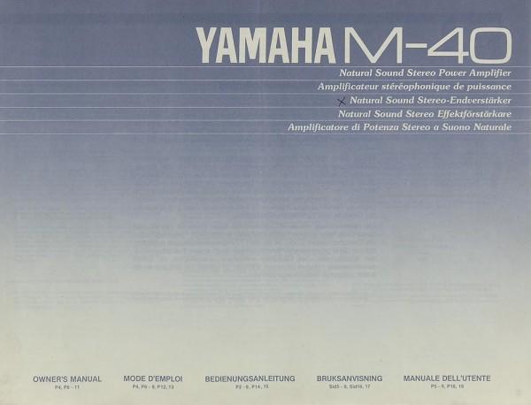Yamaha M-40 Bedienungsanleitung