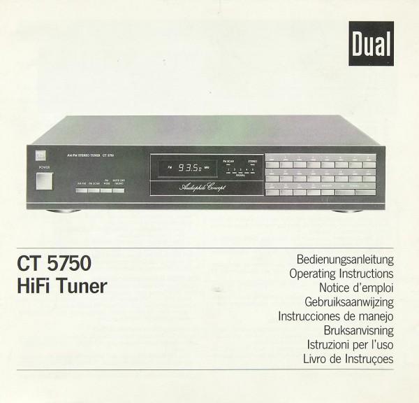 Dual CT 5750 Bedienungsanleitung