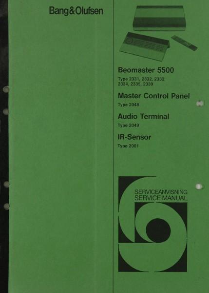 B & O Beomaster 5500 Schaltplan / Serviceunterlagen