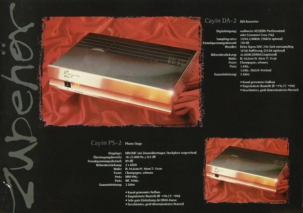 Cayin DA-2 / PS-2 / 220 C / 230 C Prospekt / Katalog