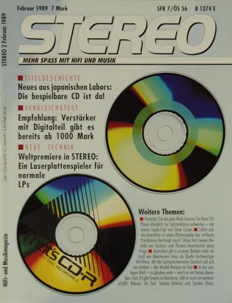Stereo 2/1989 Zeitschrift