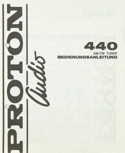 Proton Audio 440 Bedienungsanleitung