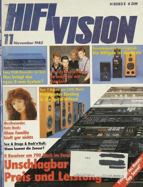 Hifi Vision 11/1985 Zeitschrift