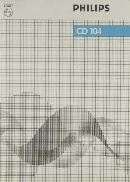 Philips CD 104 Bedienungsanleitung