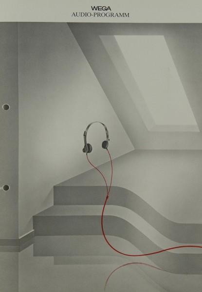 Wega Audio-Programm Prospekt / Katalog