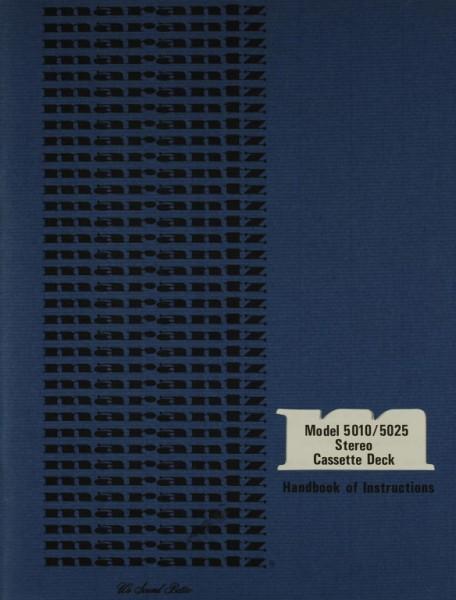 Marantz Model 5010 / 5025 Bedienungsanleitung