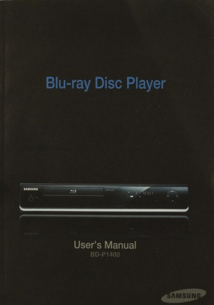Samsung BD-P 1400 Bedienungsanleitung