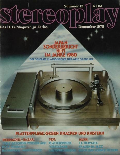 Stereoplay 12/1978 Zeitschrift