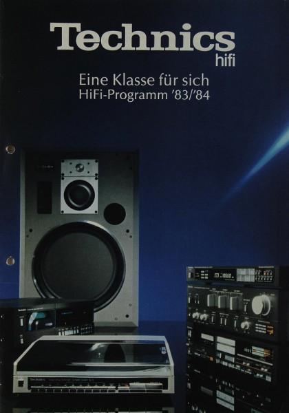 Technics Hifi-Programm ´83/´84 Prospekt / Katalog