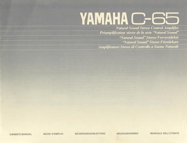 Yamaha C-65 Bedienungsanleitung