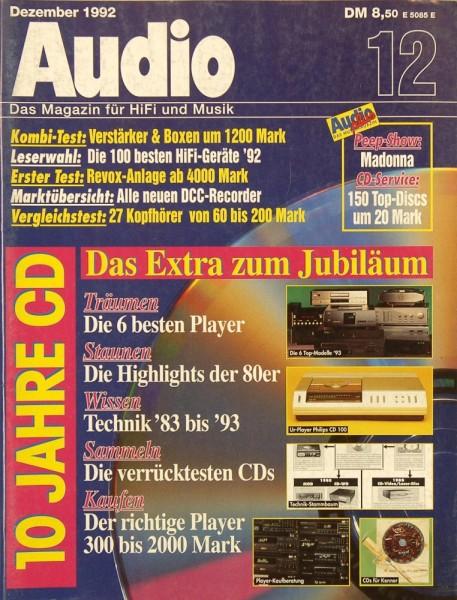Audio 12/1992 Zeitschrift