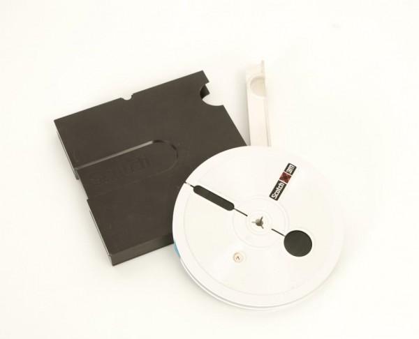 Scotch 3M 18er Tonbandspule DIN Kunststoff mit Band + Archivbox
