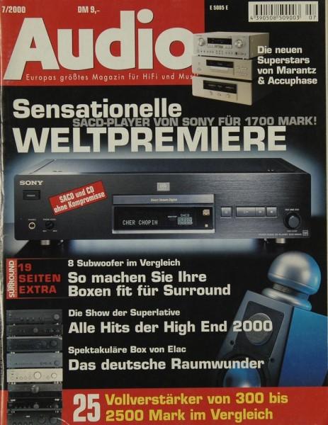 Audio 7/2000 Zeitschrift