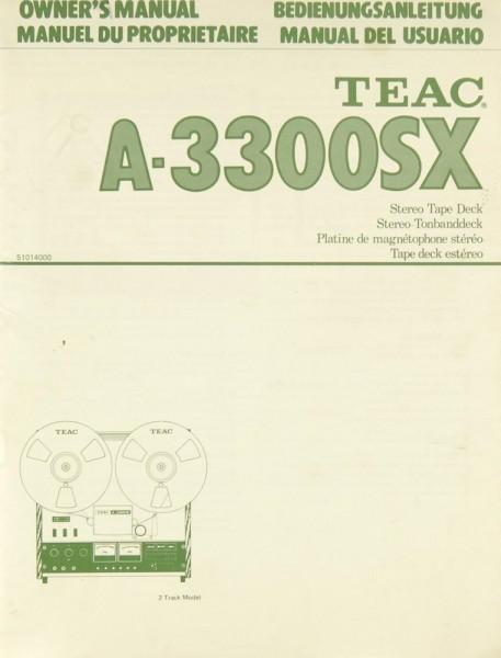 Teac A-3300 SX Bedienungsanleitung