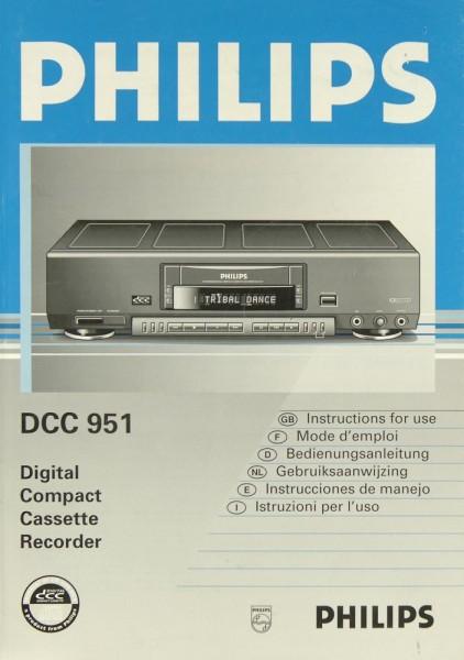 Philips DCC 951 Bedienungsanleitung