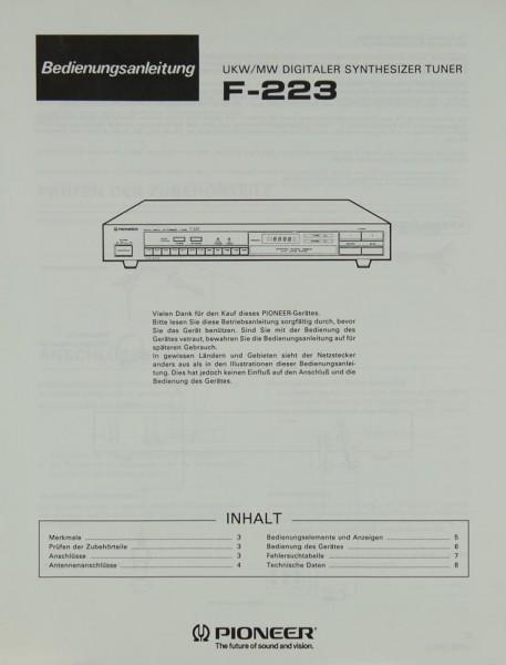 Pioneer F-223 Bedienungsanleitung