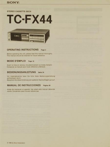 Sony TC-FX 44 Bedienungsanleitung