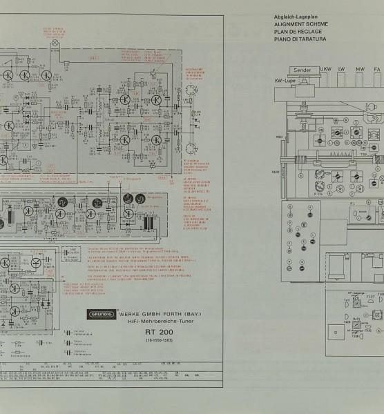 Grundig RT 200 Schaltplan / Serviceunterlagen