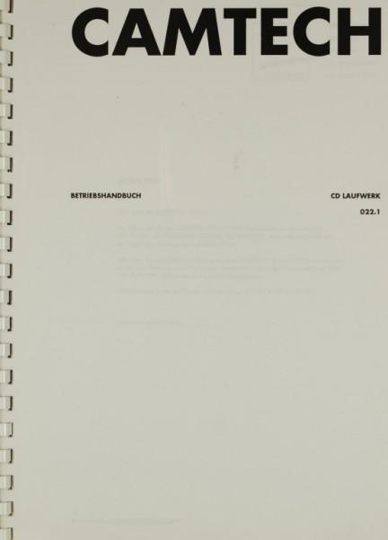 Camtech CD Laufwerk 022.1 Bedienungsanleitung