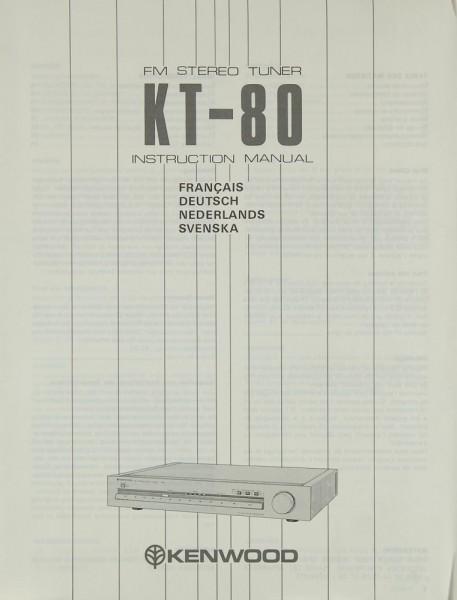 Kenwood KT-80 Bedienungsanleitung