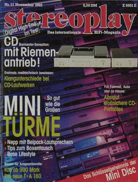 Stereoplay 11/1992 Zeitschrift