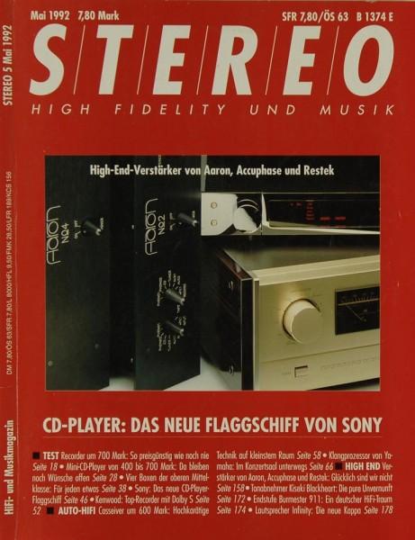 Stereo 5/1992 Zeitschrift