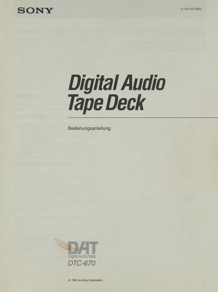 Sony DTC-670 Bedienungsanleitung