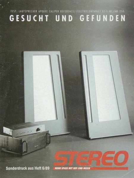 Stereo Sonderdruck 6/89 Testnachdruck